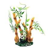 SSN Decoración para Acuario Plantas De Plástico Decoraciones De Peceras Adorno En Forma De Bambú Plantas...