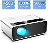 Mini proyector, ELEPHAS Video Proyector 4500 Lux Proyector de Cine en casa portatil LED de Larga duración...