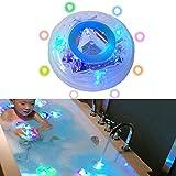 EisEyen RGB LED luz de Ambiente Infantil bañera Agua Densidad de natación Luz Baño Juguete Luces