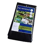 Estanque de lámina de PVC 9 M x 6 M 0,5 mm de colour negro y protector de pantalla para el jardín de...