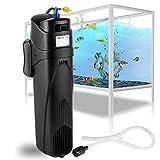 Forever Speed - Filtro interior para acuario (filtro UVC, esterilizador, bomba ajustable)