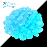 ZoomSky Piedras Luminosas Azul 200pcs Stone Brillante Roca Fluorescente Adorno pecera para Decorar jardín...