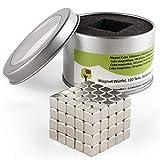 OfficeTree® 100 Mini imanes de neodimio 5x5x5 mm – Sujeción Extra Fuerte para Pizarra Blanca, Pizarra...