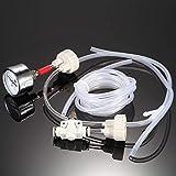 Anself - DIY Kit de sistema de CO2 generador con presión aire medidor flujo ajuste Vavle agua planta acuario...
