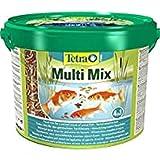 Tetra Pond Multi Mix 10 L - Comida para peces que consiste en cuatro tipos diferentes de comida (Comida en...
