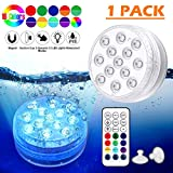 Piscina Luz LED Impermeables,Luces Sumergibles,Control Remoto Bajo El Agua Luces Multicolores LED Luz...