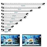 VARMHUS Luz LED sumergible para acuario, 48 cm, lámpara de acuario sumergible para acuario, iluminación de...