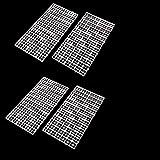 CCCYMM - 4 separadores de rejilla para huevo de la caja de la lona para acuario, acuario, pecera, parte...
