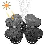Fuente Solar Exterior,Fuentes para Jardín, Flotante Bomba de Fuente Solar con 7 Boquillas para Estanque,...