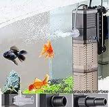 LONDAFISH 3-en-1 Tanque de Peces Bomba de Agua Bomba Sumergible Bomba de Agua para Tanque De Peces 8 W 20 W 25...