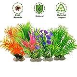 Homvik Plantas Artificiales Acuario Plantas plásticas Decoración Acuarios Ideal Ornamento para Acuario...