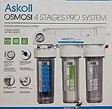 Askoll 001740 Sistema de ósmosis inversa 4 estadios Pro System para acuarios