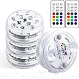 Luces Sumergibles StillCool Piscina Luz LED Impermeables IP68,4 Pack 13 LEDs 16 Colores LED Sumergibles con...