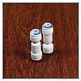 NO LOGO 5pcs 1/4' -1/4' Sistema de ósmosis inversa OD Tubo PE Accesorio de tubería Recta antirretorno Filtro...