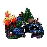 Flyzy - Figura decorativa para acuario, resina artificial de coral