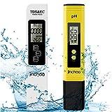 JINCHAO Calidad del Agua Medidor de Prueba, Medidor PH TDS Temperatura EC 4 en 1 Digital, para Agua Potable,...