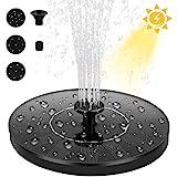 Dustgo bomba de agua solar, bomba de fuente solar, panel solar flotante (con 4 boquillas), utilizado para...
