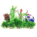 PietyPet Plantas acuáticas Artificiales, 16 Piezas Plantas Pequeño de Acuario Decoraciones plásticas del...