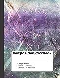 Composition Notebook: Rainbow Fluorite Crystals Composition Notebook 100 college ruled lined paper