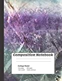 Composition Notebook: Rainbow Fluorite Crystals Composition Notebook 100 college ruled lined paper