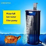 LONDAFISH Filtro Sumergible Mudo del Agua del Filtro de la Tortuga para la filtración del Tanque/del Acuario...