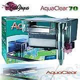 AQUACLEAR Filtro DE Mochila para Acuario 70 FILTROS Cascada DE Acuario PECERA