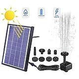 Fuente solar Ansgec, 6,5 W, bomba solar para estanque, bomba de agua de jardín con panel solar, 6 estilos de...