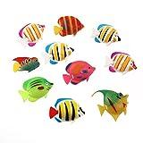 Winomo - 10 peces de decoración para acuario, movimiento artificial (patrones de colores aleatorios)