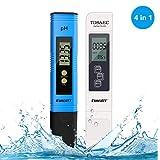 Medidor pH, Digital Medidor TDS de Prueba PH Medidor TDS/PH/CE Temperatura 4 en 1 Set