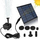 SunTop Bomba de Agua Solar, Bomba de la Fuente del baño Solar Lindo, Panel Derecho Libre Jardín Solar Kit de...