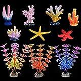 Coral Artificial Acuario, de Coral Brillante y acuáticas Plantas para peceras Decoraciones Adornos para...