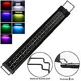 Iluminación para Acuarios 90cm 54W 4320lm Pantalla LED Acuario, lámpara de Acuario con Temporizador y...