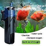 Esterilizador UV de 5 W para Bomba de oxígeno Sumergible, Filtro de Agua para Acuario, pecera