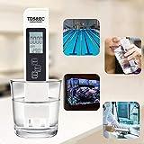 Litthing 3 en 1 Medidor de Prueba de Calidad del Agua Medidor TDS EC Pluma de Prueba de Temperatura con...