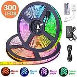 10M RGB Tira de LED 12V con Chip SMD 5050, ESEYE IP65 Impermeable Flexibles Multicolor 300 LEDs Strip Tiras...