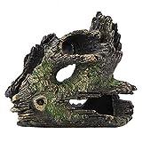 Duokon Acuario Driftwood Decoración Artificial Resina Tronco de árbol para el Tanque de Peces Camarón Nido...