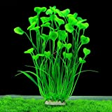 min Minerlele Plantas Artificiales de plástico para Acuario de 15,7 Pulgadas de Alto, para decoración de...