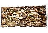 Aqua Maniac Fondo de acuario 3D, piedra beige, polirresina (no espuma), 4 – 6 cm de grosor, decoración...