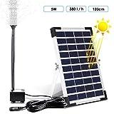 MVPOWER Solar Fuente Bomba, 5W Bomba de Agua Solar, 12V Bombas de Fuente, Bombas para Fuentes, Ideal para...