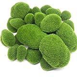 TaoToa 30 Piezas de Rocas Artificiales de Musgo de 3 Tama?Os Decorativas, Bolas de Musgo Verde, para...