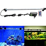 FVTLED Cambia color Lámpara de acuario 8W 62CM 33 luces SMD5050 LED Lampara Tira Pecera Sumergible Submarino...