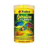 Tropical - Spirulina Flakes - Comida en Copos para acuariofilia, 250ml - Lote de 3