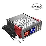 KKmoon Regulador de temperatura con termostato de pantalla digital dual Controlador de temperatura con sonda...