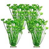 Brynnl - Plantas de decoración para acuarios, 4 Piezas de Plantas Artificiales para peceras de 15,75...
