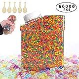AMAYGA 60000 PCS Bolas de Gel de Agua,Perlas de Gel para decoración del Florero,Plantas,Flores,Mezclados...