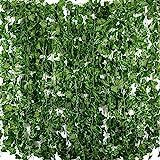 Plantas Hiedra Artificial (24pcsx2m) Hiedra Hojas de Vid Artificial Enredadera Guirnalda Decorativa para...